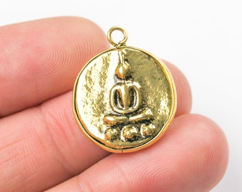 Antique Wrapped Buddha Pendant- 20mm