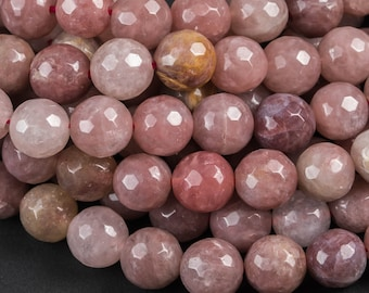10 Strand Natural Strawberry Quartz Faceted Beads Strawberry Rondelle 2mm Micro Cut Faceted Beads Strawberry Quartz Gemstone Top Quality