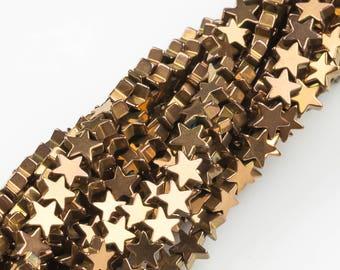 STAR Hematite Strands-Copper- 2 Sizes