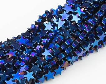 STAR Hematite Strands- Metallic Blue- 2 Sizes