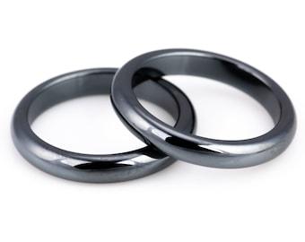 Hematite Ring  Hematite Stone  Tumbled Hematite  Dainty Ring
