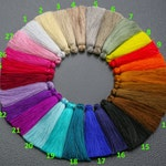 New Colors!**** SILK TASSEL TASSLE Silk Tassels Tassles High Quality Extra Thick 4 pcs. *Please read description*