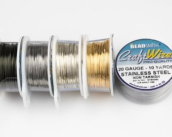 Round Half Hard Wire 18 gauge Wrapping Wire- MB23 1 Rool 5 meters Silvere Tone Copper Wire 1mm