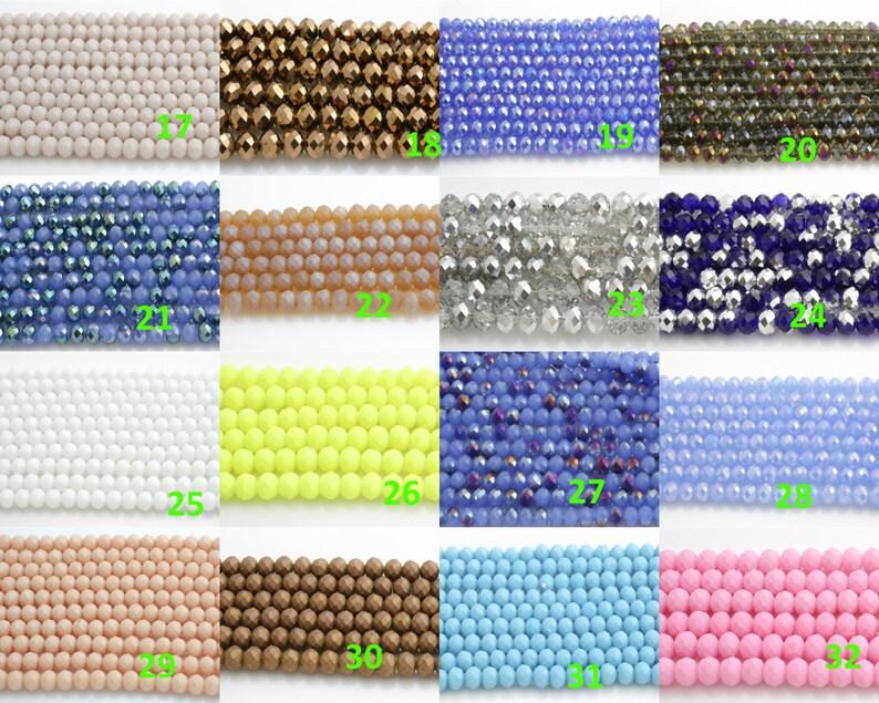 10mm Crystal Rondelle Huge Selection FIRST Section-5 STRANDS