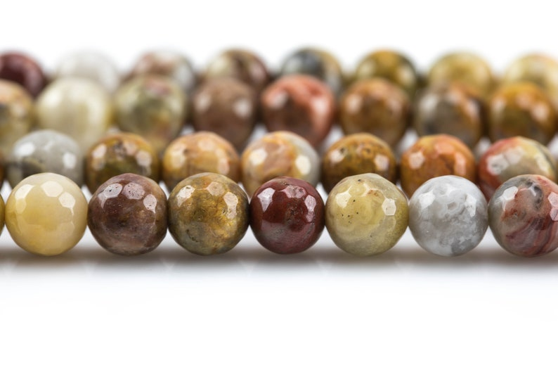 6mm 8mm Natural Mexican Crazy Laced Agate Faceted Round 4mm 10mm 14mm -Full Strand 15.5 inch Strand Gemstone Beads 12mm