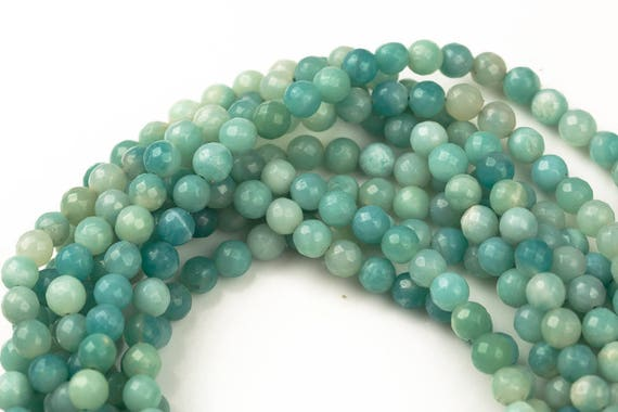 natural   uk seller N.25 6mm Approx 65 beads Natural Opalite beads