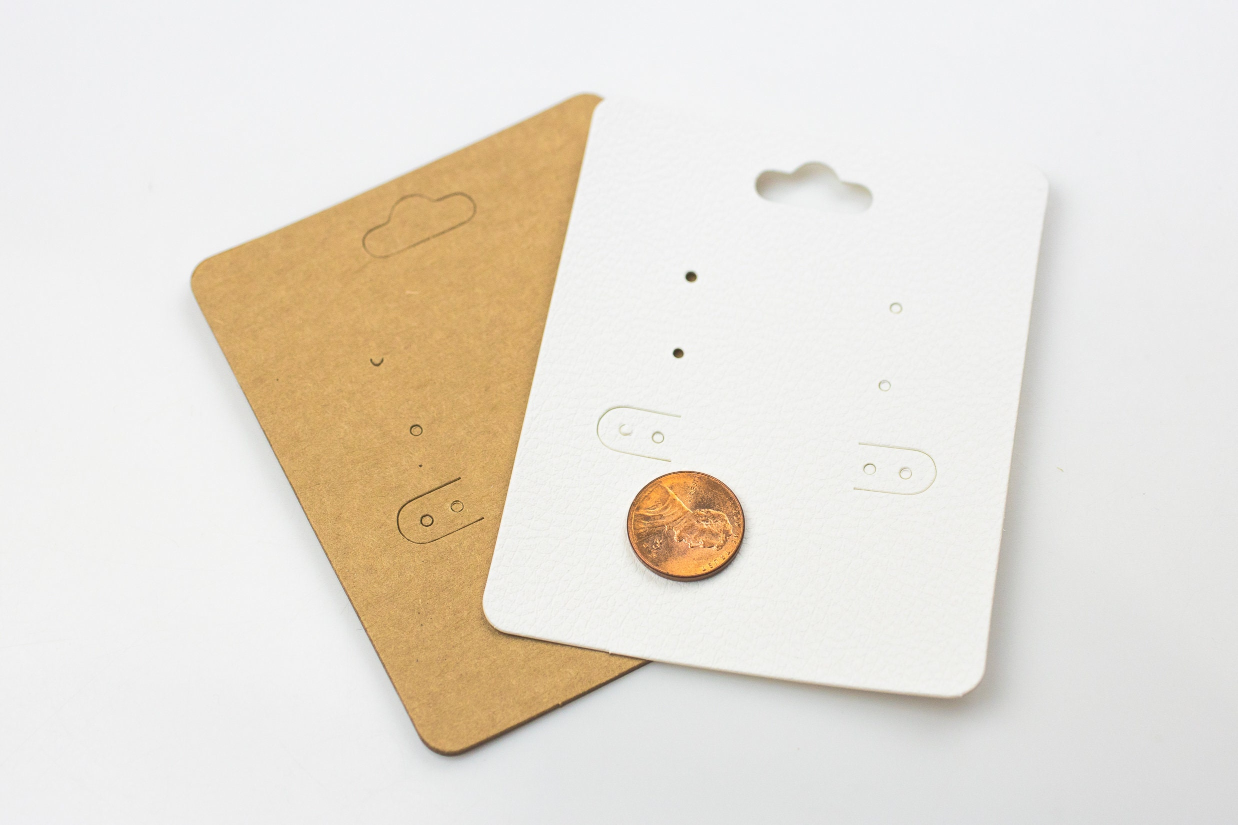 Large Size Earring Card- 3 x 4 Inches- 2 colors- ChipBoard or White