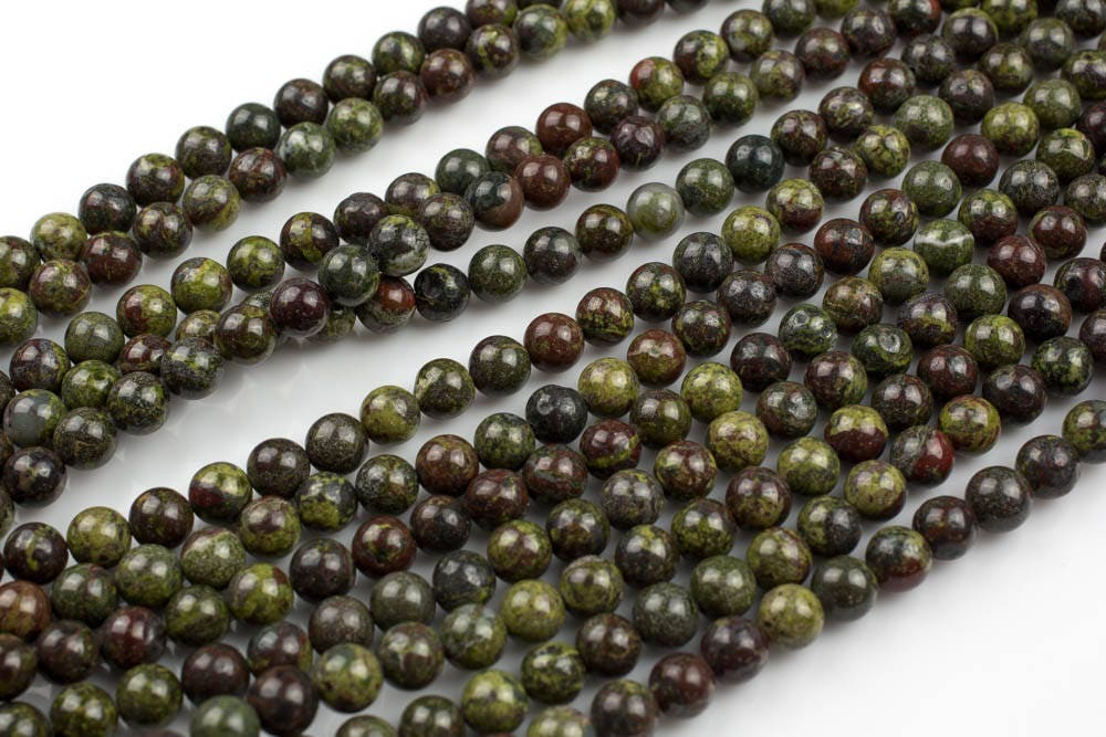 Gorgeous Dragon Bloodstone Beads Blood Stone Beads, High