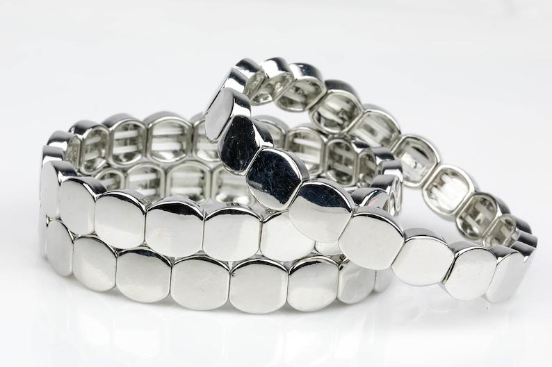 Wholesale Pricing Enamel Tile Beads-10mm Large Tila Tile Stretchy Bracelet 7.5