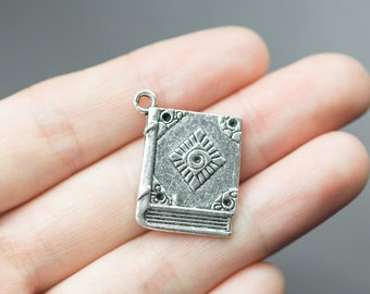 5 Book Charms 18x23mm 1121-11184