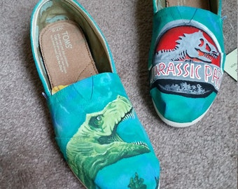 Toms Shoes Customized Jurassic Park T Rex 6af7ab3bfa06