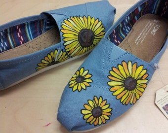Toms Shoes Customized Sunflowers
