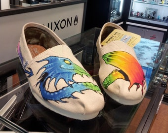 Toms Shoes Customized Dragon