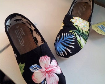 Toms Shoes Customized Flowers Tropical