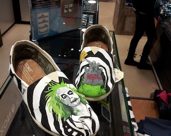 Toms Shoes Customized Beetlejuice