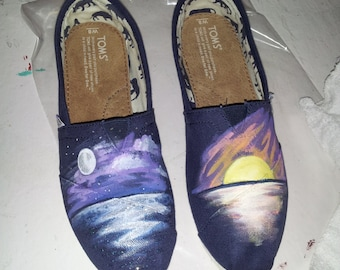 Toms Shoes Customized Sunset