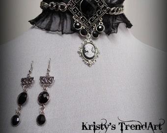 "Collar 2 Set ""Dark Lady"""