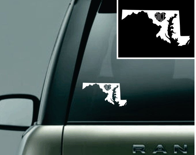 Maryland Love Your State Car Decal