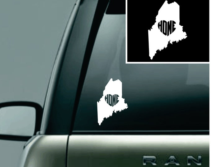 Maine Love Your State Car Decal
