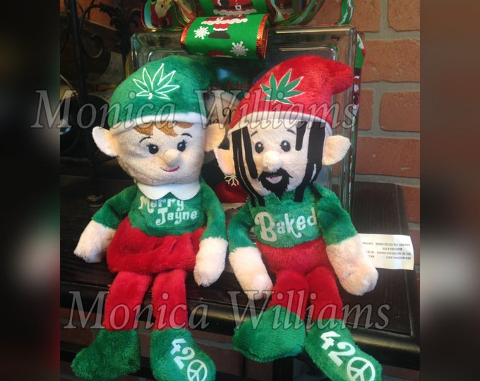 Funny Adult Christmas Elves - Baked, The 420 Elf - Merry Jayne - NOW SHIPPING