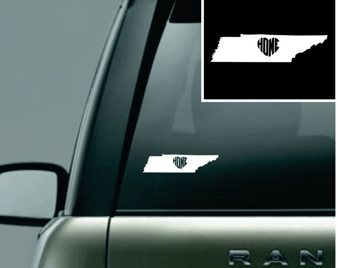 Tennessee Love Your State Car Decal