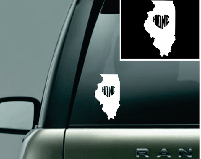 Illinois Love Your State Car Decal