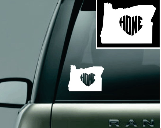 Oregon Love Your State Car Decal