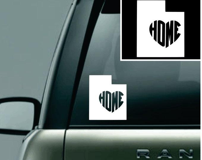 Utah Love Your State Car Decal