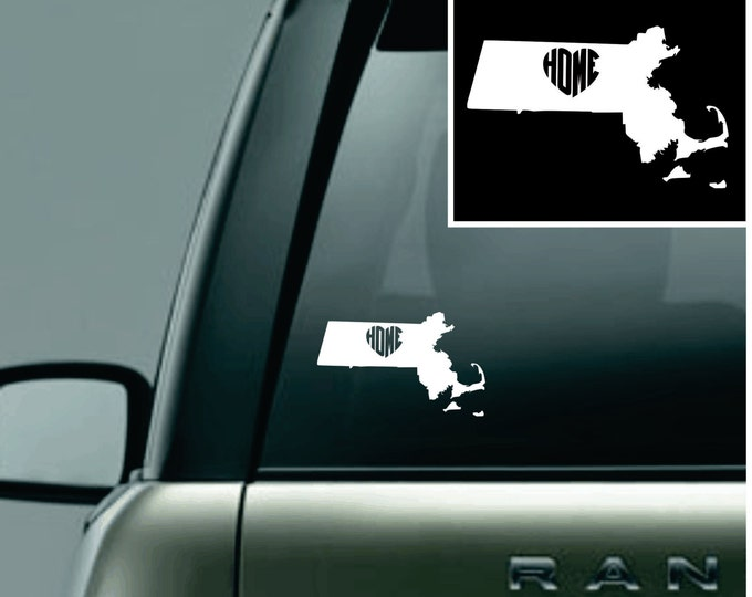 Massachusetts Love Your State Car Decal