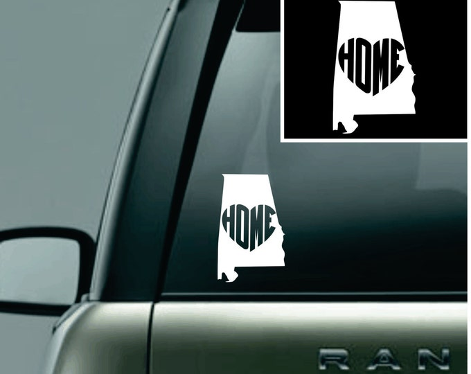 Alabama Love Your State Car Decal