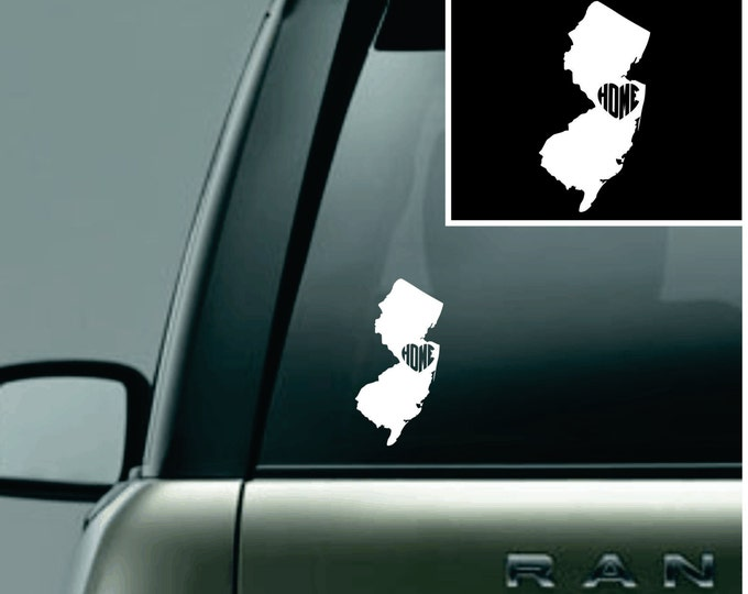 New Jersey Love Your State Car Decal