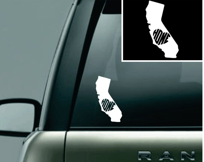 California Love Your State Car Decal