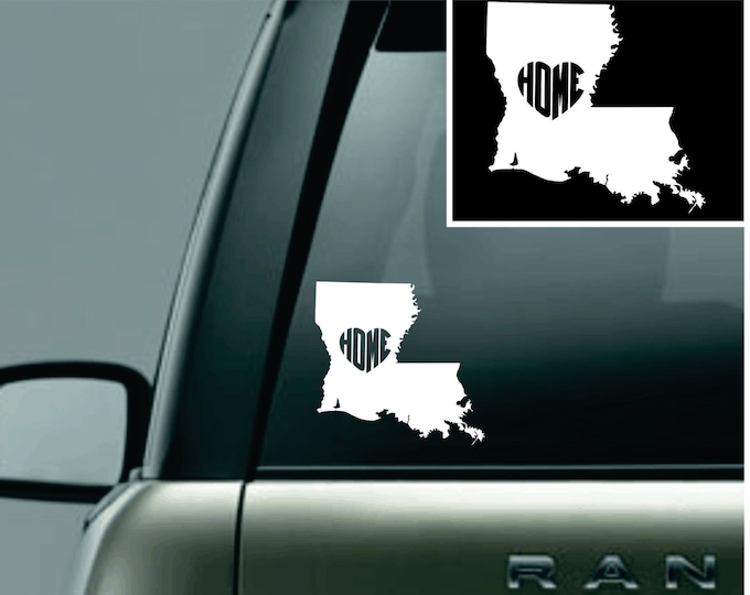 Louisiana Love Your State Car Decal