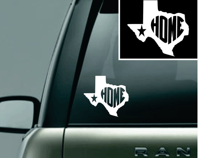 Texas Love Your State Car Decal