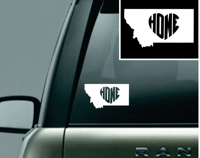 Montana Love Your State Car Decal