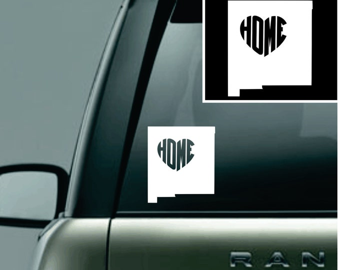 New Mexico Love Your State Car Decal