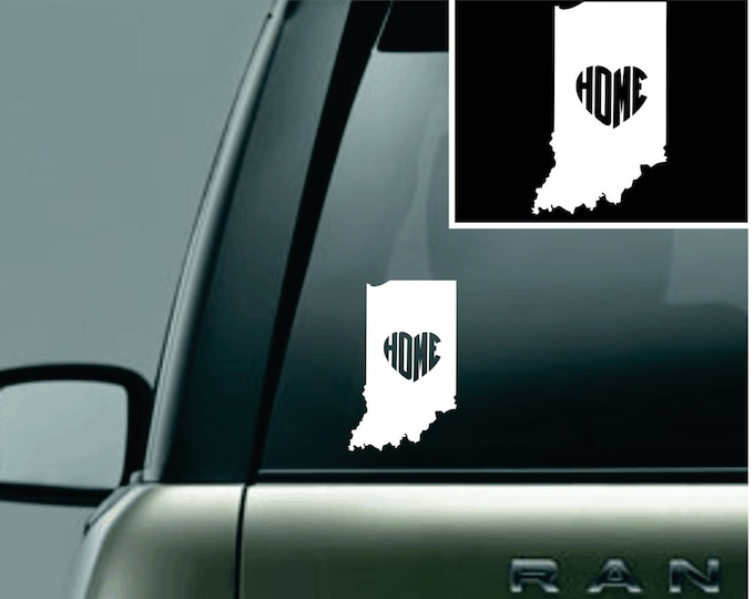 Indiana Love Your State Car Decal
