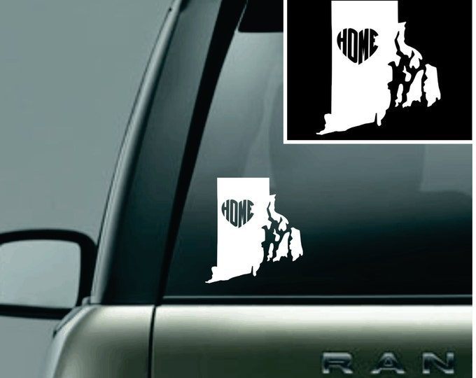 Rhode Island Love Your State Car Decal