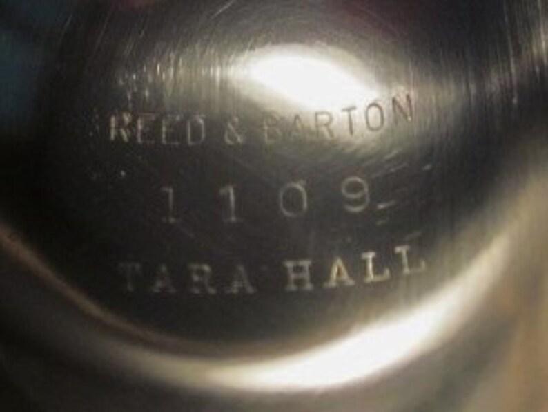 1955 Vtg Reed /& Barton Silverplate Tara Hall #1109 Pedestal Compote Candy Dish --CA