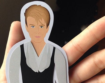 DAVID BOWIE Inspired Fridge Magnets, Paper Doll, Labyrinth Goblin King