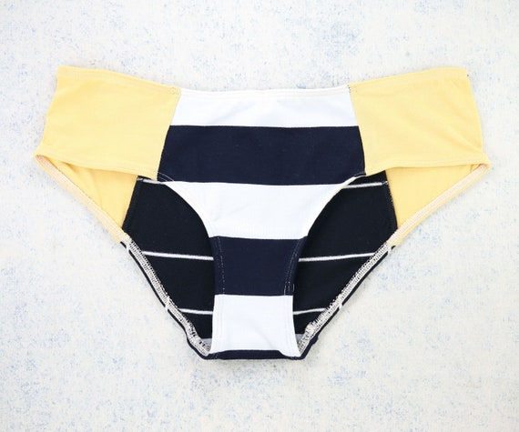 MEDIUM - LOLA WideHipster cut, unique, upcycle and handmade panties hand dyied