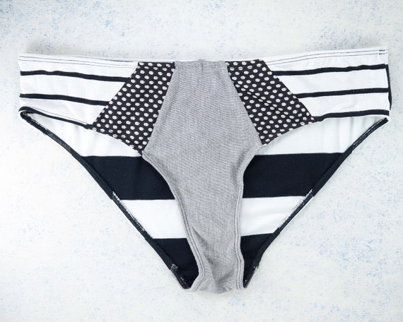X-LARGE - ISA Hipster cut , unique, upcycle and handmade panties