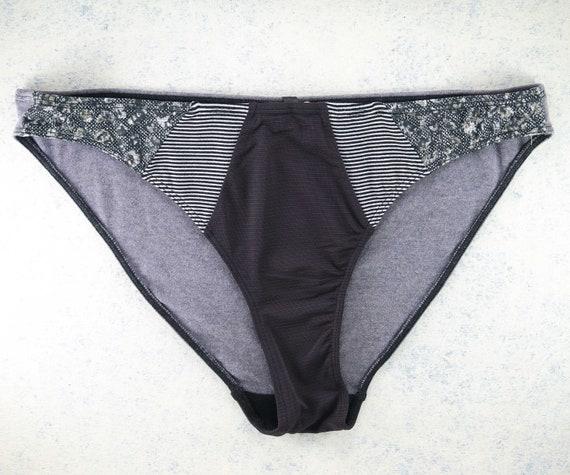 X-LARGE - EVA bikini cut , unique and handmade from upcyclepanties