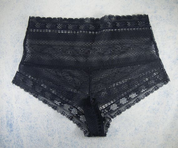 CUSTOM - high waist THIA panties, unique and handmade deadstock lace