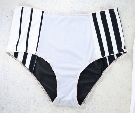 XLARGE/XXLARGE - CECILE high waist panties, unique and handmade from upcycle