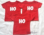 cb925d5a0 Triplet Christmas Shirts- Baby Boy/Girl Onesies Triplets - Christmas Triplet  Ho Ho Ho tshirts - Triplet Baby Gift - Multiples/Siblings