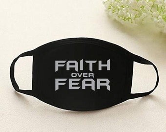 Faith over Fear cotton layered mask
