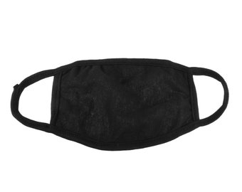 Large Black Cotton Layered Masks with Filter Insert