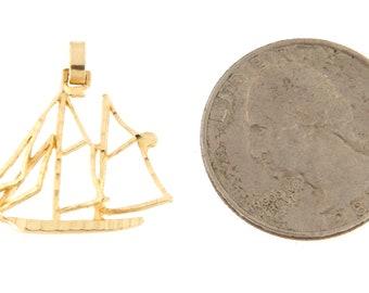4pcs Brass Sailboat Charms