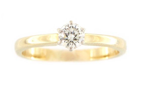 Women's Solitaire ring 14kt Yellow Gold  - image 8